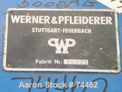 Used- Werner Pfleiderer Double Arm Mixer