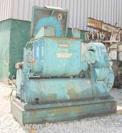 "Used- J.H. Day Double Arm Mixer, 50 gallon Working Capacity, Carbon Steel. Jacketed bowl 36"" left to right x 28"" front to ba..."