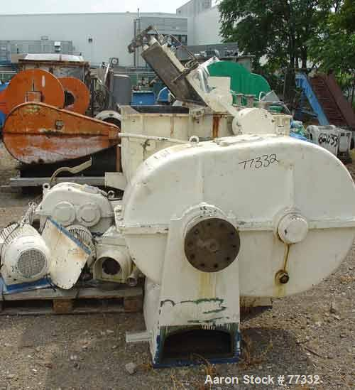 USED: Werner Pfleiderer double arm mixer, type UK17. Carbon steel. Total capacity is 357 gallon (1350 liter); working capaci...