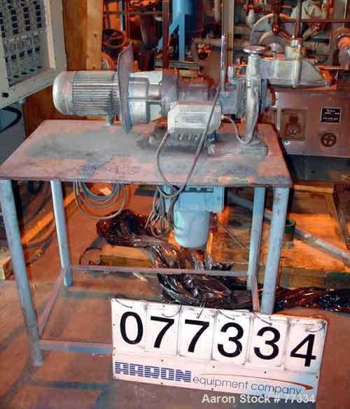 Used: Werner Pfleiderer lab size double arm mixer, type LDUK0.5W