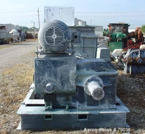 "USED: Baker Perkins (Guittard) double arm mixer, carbon steel. 400 gallon working capacity, 528 total. Jacketed bowl 63"" lef..."