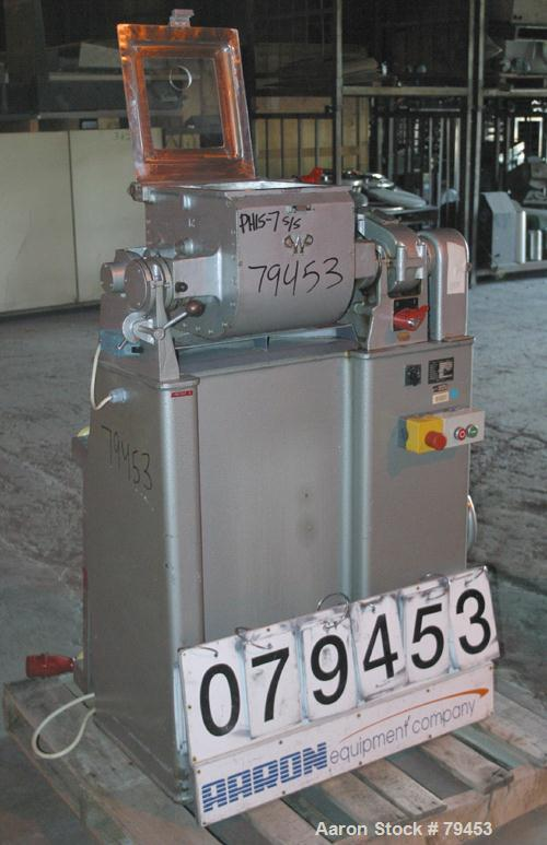 Used- Stainless Steel Werner Pfleiderer Lab Size Double Arm Mixer, Type LUK6III