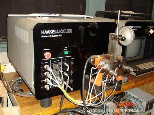 USED: Haake Buchler Rheocord 40 double arm mixing system consisting of (1) model 8040000 drive unit 3/60/230 volt, 30 amps; ...