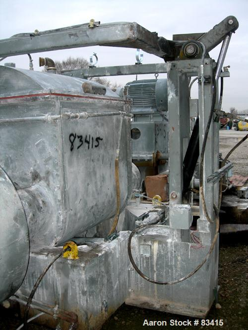 Used: Carbon Steel Aaron Process low boy design double arm mixer, 300 gallon cap