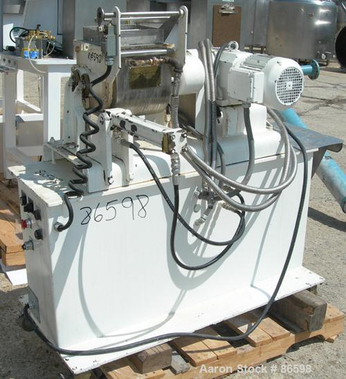 "USED- Teledyne Readco Double Arm Lab Mixer, 1.5 Gallon Capacity, 304 Stainless Steel. Jacketed bowl 9-1/16"" left to right x ..."