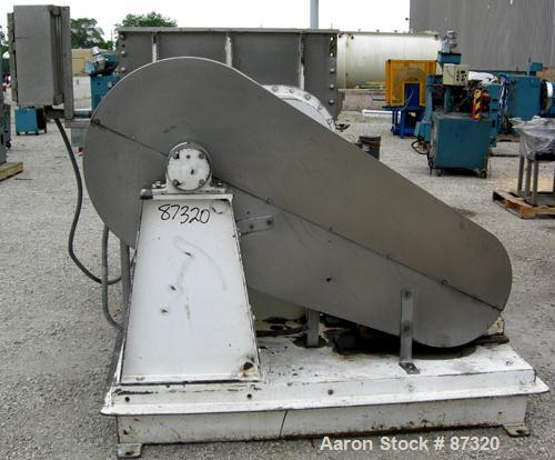 "Used- J.H. Day Double Arm Mixer, 150 Gallon Working Capacity, 225 Total, 304 Stainless Steel. Non-jacketed bowl 46"" left to ..."