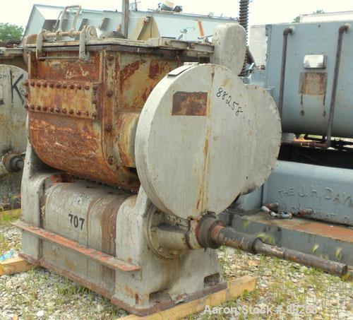"Used- Baker Perkins Double Arm Mixer, Model 15, 100 Gallon Capacity, Carbon Steel.  Jacketed bowl 33"" left to right x 38"" fr..."