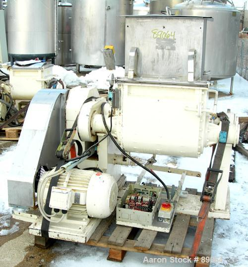 USED: P Pratt S A double arm mixer, model BA-S. Approximate 20 gallon working capacity, 304 stainless steel. Stainless steel...