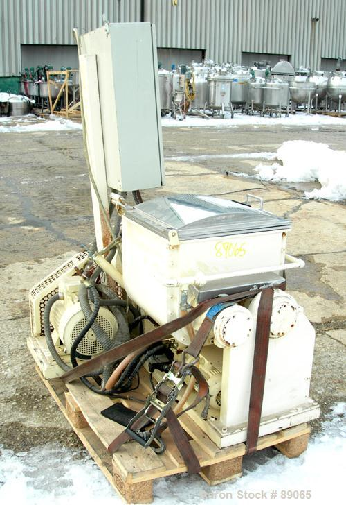 Used- Stainless Steel P. Prat S A Double Arm Mixer, Model AA, approx. 13 Gallon
