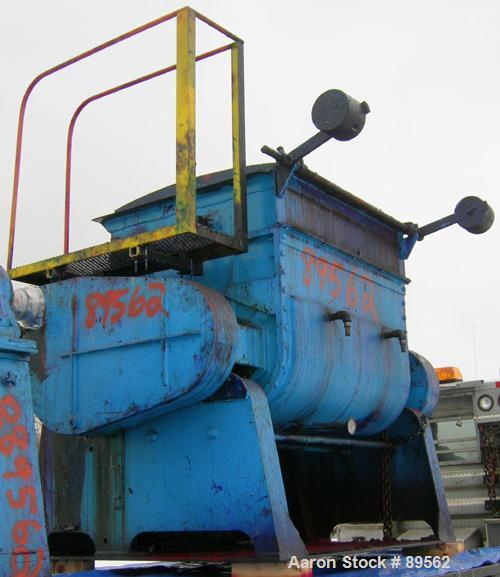 "USED: Double arm mixer, approximate 200 gallon working capacity, carbon steel. Jacketed bowl 49"" left to right x 45"" front t..."