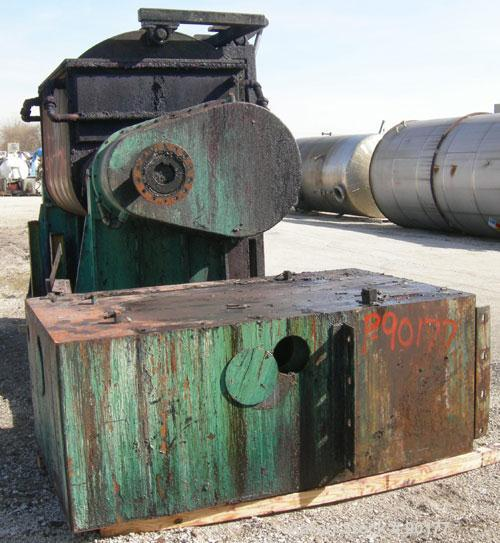 Used- Carbon Steel Aaron Process Double Arm Mixer, 500 gallon working capacity