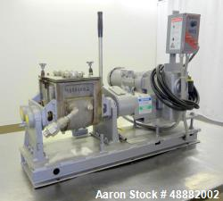 Used-Aaron Process Equipment Model LNG1B Lab Batch Double Arm Sigma Mixer. Total Capacity 2.3 Gallons, Mixing Capacity 1 Gal...