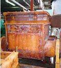 USED: Readco double arm mixer, 100 gal working capacity. Carbon steel jacketed. Bowl only est 75 psi. Bowl 33