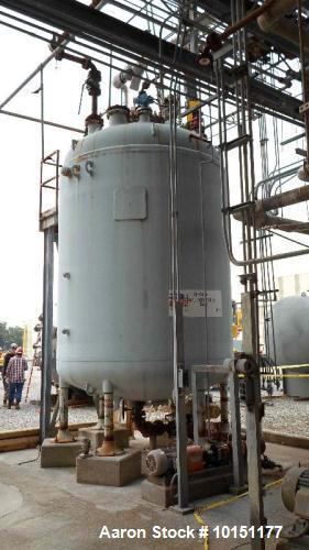 Used- 4000 Gallon Dedietrich Glass Lined Reactor
