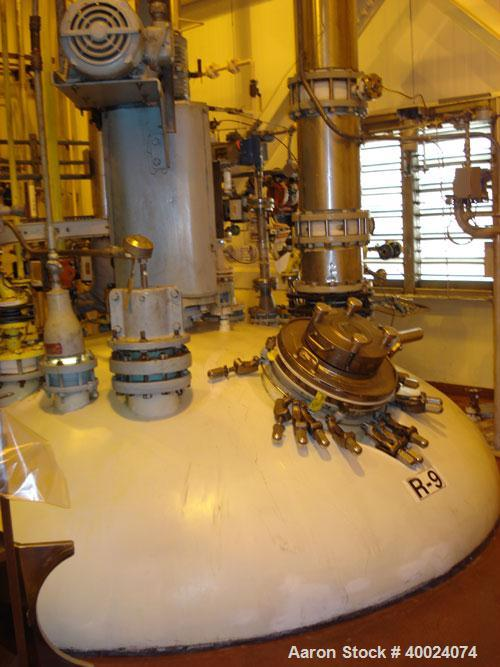 "Used: Pfaudler K series glass lined reactor, 3000 gallon, 9129 white glass, model KC-96-3000-100-90.96"" diameter x 77"" strai..."