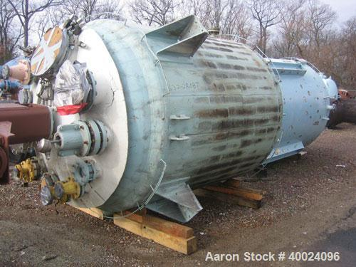 "Used- Pfaudler K Series Glass Lined Reactor, 2000 gallon, 9129 white glass, model KC-78-2000-100-90. 78"" diameter x 84"" stra..."