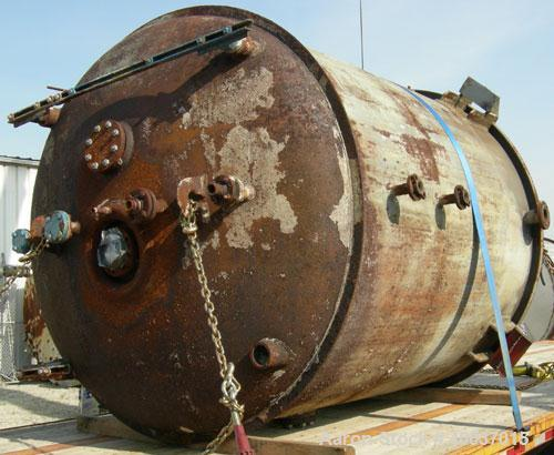 "Used- DeDietrich Glass Lined Reactor, 2000 Gallon, 3009 Blue Glass. Approximately 78"" diameter x 90"" straight side, dish top..."