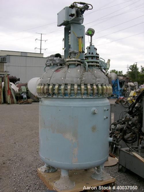 "Used: Pfaudler glass lined clamp top reactor, 200 gallon, model RT40-200-10-100, 9125 white glass. Approximately 40"" diamete..."