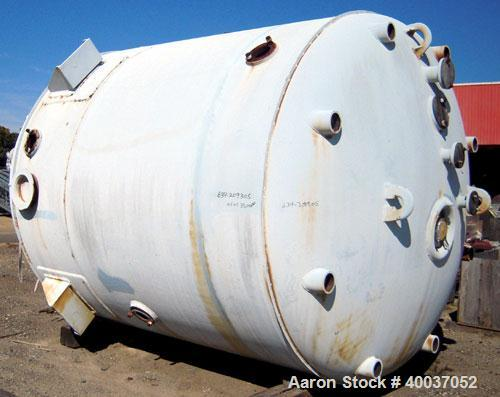 "Used- DeDietrich Glass Lined Reactor, 5000 gallon, 9115 glass. Approximately 108"" diameter x 118"" straight side, dish top an..."