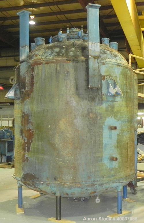 "Used- Pfaudler 3000 Gallon Glass Lined Reactor Body with Covers. Model RA-96. 96"" Diameter x 77"" Straight Side. Dished Heads..."