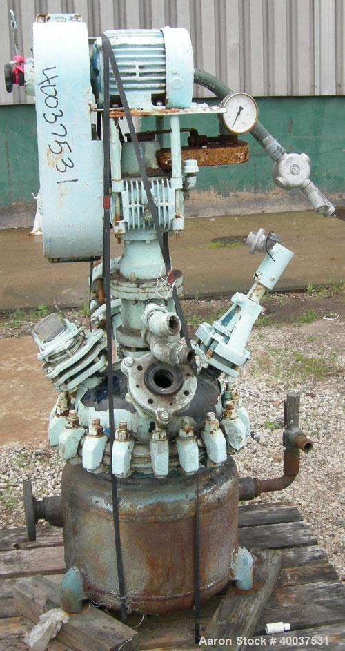 Used- Pfaudler Glass Lined Clamp Top Reactor, 10 Gallon, 3315 Glass, Vertical. Approximately 16'' diameter x 16'' straight s...