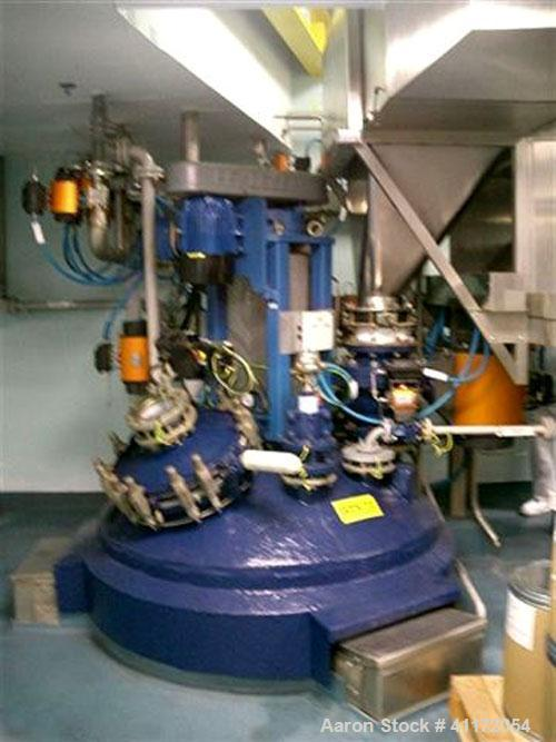 Used- Pfaudler Glass Lined Reactor, 1057 Gallon (4,000 liter), Type BE, Vertical. Welded dish top and bottom. Internal rated...