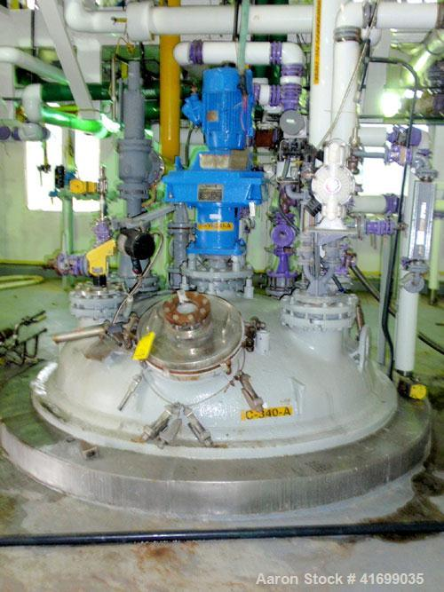 Used- Dedietrich Glass Lined Reactor, 2000 Gallon, 3009 Glass, Vertical. Internal rated 130 psi/FV at 500 deg F, jacket rate...