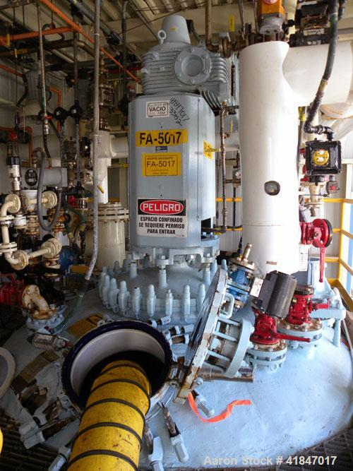 "Used- Pfaudler Glass Lined Reactor, 5000 gallon, 9129 white glass with calibration lines, vertical. Approximately 102"" insid..."