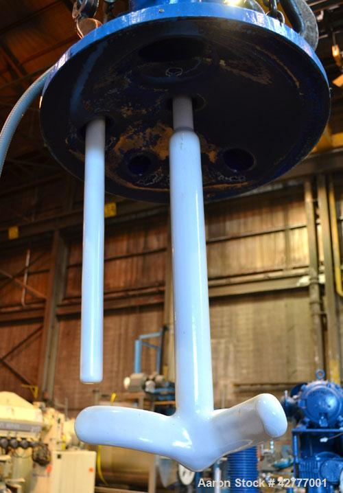 Used- DeDietrich Clamp Top Glass Lined Reactor, 30 Gallon, 9115 Blue Glass. Vertical. Approximately 19-1/2'' diameter x 24''...