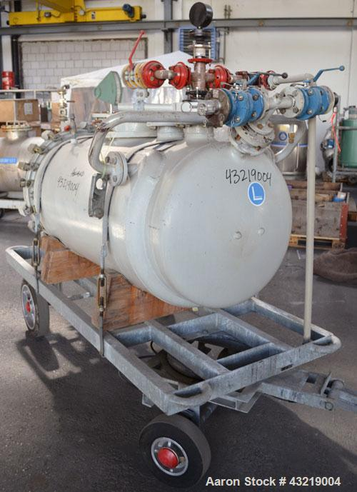 Used- 670 Liter Glass Lined De Dietrich Reactor