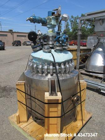 Used- Pfaudler 50 Gallon Stainless Steel Glass Lined Reactor. 316L Stainless steel glass lined construction, approximately 2...