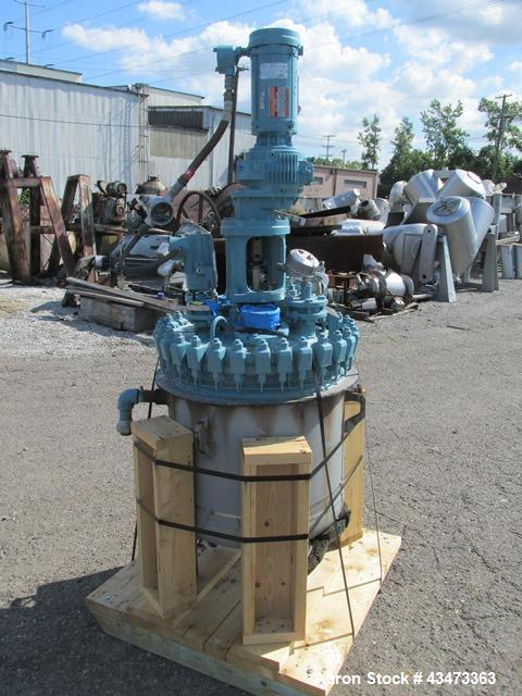 Used- De Dietrich Glass Lined Reactor, 50 Gallon, 3009 Glass. Internal rated 150 psi & Full Vacuum at 400 degrees F. Jacket ...