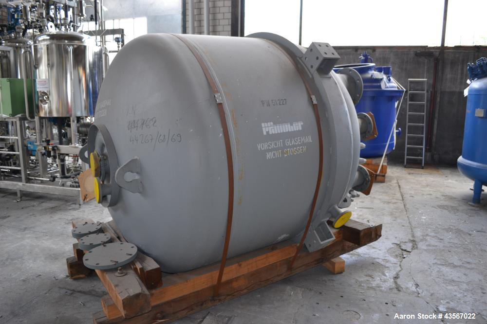 "Used- Pfaudler Type E3000 Glass Lined Reactor, 3000 Liter (792.75 Gallon), Blue Glass, Vertical. Approximately 64"" diameter ..."