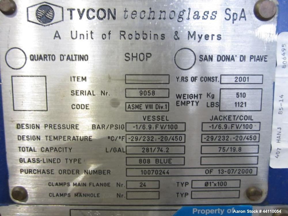 Used- 53 Gallon Glass Lined Tycon Portable Vessel
