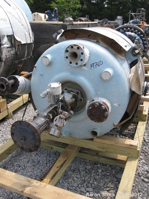 "Used- Pfaudler Glass Lined Reactor, 100 gallon, 32"" diameter x 33"" straight side, rated 100 psi and full vacuum at 450 F int..."