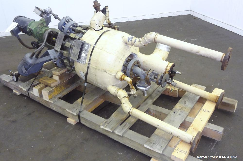 Used- 10 Gallon De Dietrich Clamp Top Glass Lined Reactor