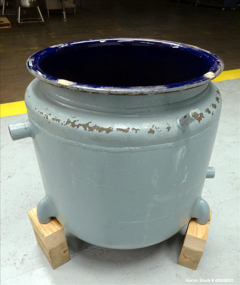 Used- Pfaudler Glass Lined Reactor, 50 Gallon, 3315 Blue Glass, Vertical.