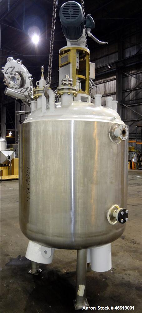 Used- 400 Gallon Tycon Technologies Glass Lined Reactor