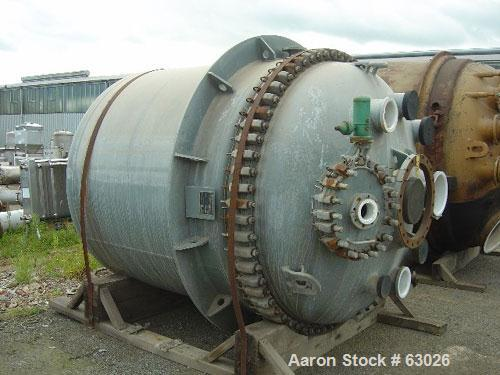 "Unused- Dedietrich Glass Lined Reactor, Type STA6000. Working capacity 1600 gallon (6000 liter), 6'5"" diameter x 7'2"" high (..."