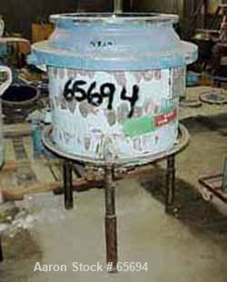"Used- Pfaudler 50 Gallon Clamp Top Reactor, Glass Lined. 24"" ID x 16"" straight side. Internal rating 25 psi/FV @ 450 deg F. ..."