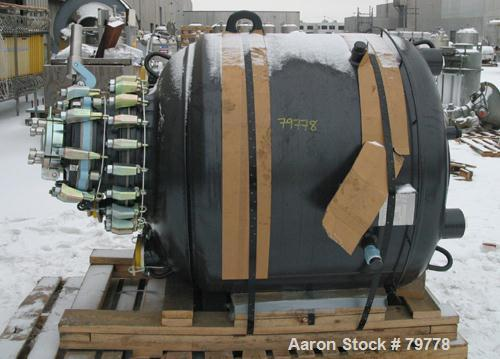 "Unused-UNUSED: Pfaudler glass lined reactor body, 300 gallon, RA48-300-150-90. 48"" diameter x 33"" straight side. Dished top ..."