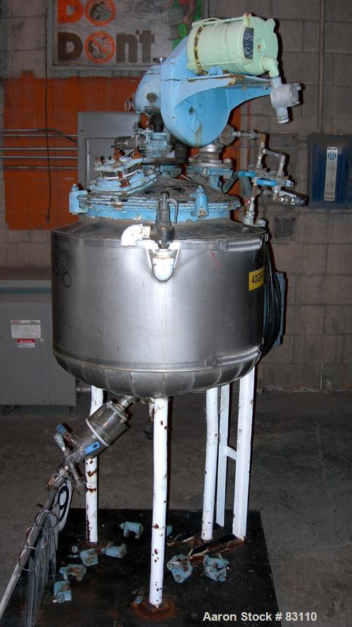 "USED: Pfaudler Glass Lined Reactor, 20 gallon. 18"" diameter x 18"" deep, bolt-on dished top, dish bottom. Internal 35 psi, ca..."