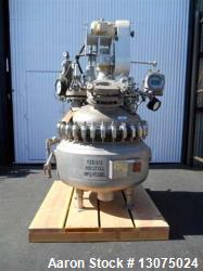 200 Liter Pfaudler Glass-Lined Reactor. Interior pressure rated for 100 PSI at 450 degrees. Jacket ...