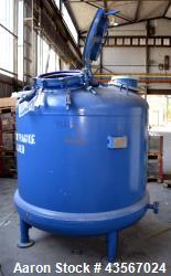 "Tycon Glass Lined Reactor, 2834 Liter (748.88 Gallon), Blue Glass, Vertical. Approximately 62"" diam..."