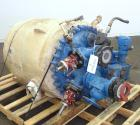 Used- Pfaudler Clamp Top Glass Lined Reactor, 100 Gallon, 9119 Blue Glass, Vertical.  Approximately 30