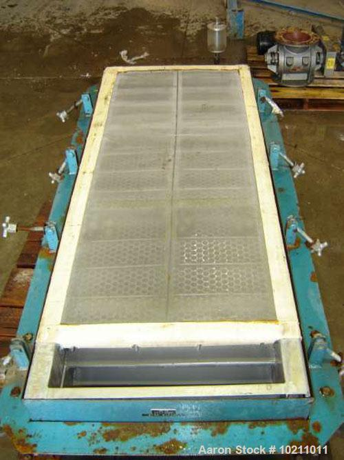 "Used-Two Deck Young Screener, 24"" x 48"", size #20B. Screener is a two deck with carbon steel pan, nominal size 24"" x 60"". To..."