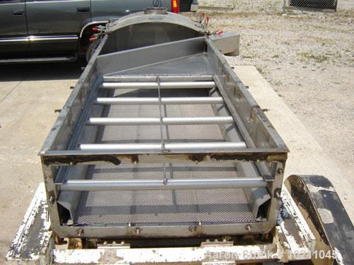 "Used-36"" X 10' Two Deck Stainless Steel Carrier Screener, Model IBM36170S100A.  Stroke equals 1"". Speed is 421 rpm. Built 8/..."