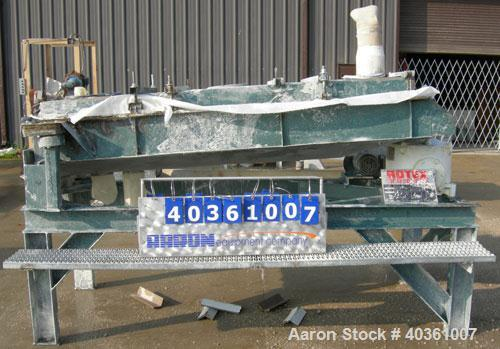 "Used- Rotex screener, model 42GP, carbon steel. 40"" wide x 84"" long double deck, 3 separation. Clamp down top cover, 3 botto..."