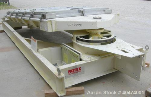 "Used- Rotex screener, model 521D SAN, 304 stainless steel. 60"" wide x 144"" long single deck, 2 separation. Clamp down top al..."