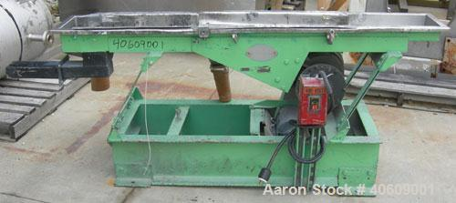 "Used- Witte Screener, 304 stainless steel. 10"" wide x 71"" long, 2 screening sections, 3 separation. Driven by 1 1/2 hp, 3/60..."